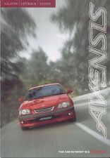 Toyota Avensis S GS GLS CDX 1997-98 Original UK Sales Brochure