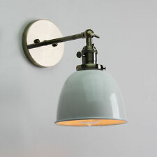 """6.3"""" VINTAGE INDUSTRIAL WALL  SCONCE LOFT WALL LAMP BRASS FIXTURE W/SWITCHES"""