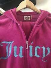 JUICY COUTURE TRACKSUIT CARGO PANTS & HOODIE PINK SIZE 8/10