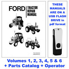 Ford 7610 6 Volume Tractor Service Manual + Operator + Parts Catalog USB Drive