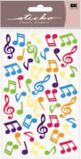 Sticko Dimensional Stickers-Music Notes