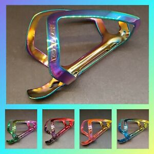 😍 GUB Alloy Rainbow Ti Chrome Ano MTB/Road Bicycle Water Bottle Cage Oil Slick