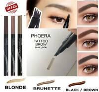 PHOERA Waterproof Microblading Tattoo Eyebrow liquid Ink Pen 4 Fork Pencil Brow