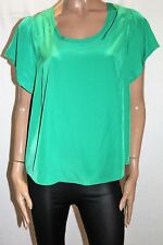 Target Brand Green Lattice Detail Flutter Blouse Top Size 16 BNWT #SG98