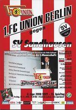 Neues AngebotProgramm 1.FC Union Berlin - SV Sandhausen  14.11.2008.  - 3. Liga 2008/2009
