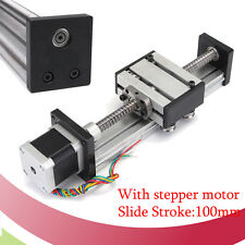 SFU1204 Linear Ball Screw Slide Motion 100MM CNC Stroke Actuator + Stepper Motor