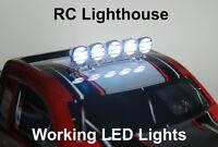 RC LIght Bar for Traxxas HPI Losi Cars or trucks 1/8 1/10 1/16 Chrome 5 led