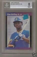 Ken Griffey JR 1989 Donruss #33 89 RC Rookie BGS 8.0