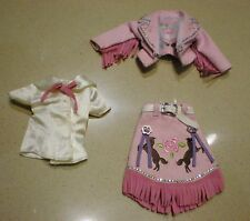 Blythe Used  3 pcs x Outfits ( Shirt + Jacket + Skirt ) ~ Darling Diva
