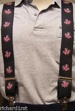 """Suspenders 2""""x48"""" FULLY Elastic Flag Canada Mapleleafs montage NEW"""