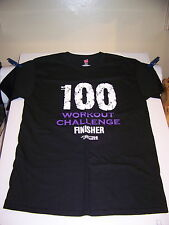 ANYTIME FITNESS 100 WORKOUT FINISHER T SHIRT BRAND NEW NEVER WORN OR WASHED MED.
