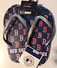 Boston Red Sox flip flops Kids size 2/3 Brand New
