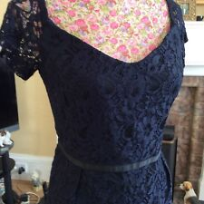 Monsoon Rosie Treasured Navy Lace Dress Size 14 Ec Rrp  £108  Hol
