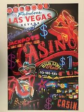 LAS VEGAS,CASINO SIGNS,AUTHENTIC 2000's  POSTER