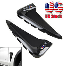 Side Body Marker Fender Air wing Vent Trim M For BMW X5 F15 2014+ Gloss Black