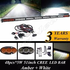 50 inch CREE LED BAR Dual Color Amber/White for Truck Boat SUV 4WD JEEP Wrangler