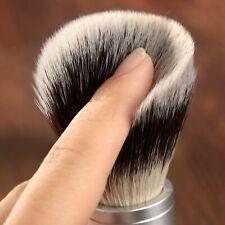 Men Useful Faux Badger Hair Shaving Brush Silver Color Handle Barber Tool Gift