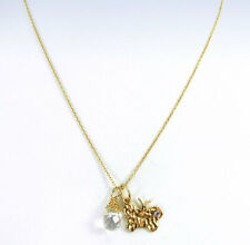 UNWRITTEN Gold Over Sterling Silver BUTTERFLY  Wrapped Crystal Pendant Necklace