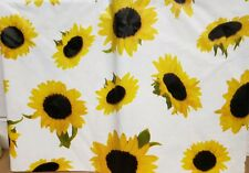 """Superior Tablecloth Vinyl Flannel Back, 60"""" X 80"""" OVAL (6 ppl) SUNFLOWERS"""