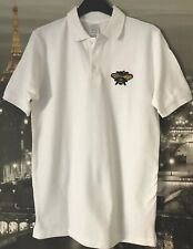 Manchester Sequin Bee on White Polo Shirt Forever One Love Worker Size 12 NEW