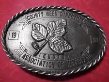 1993 County Weed Directors Association of Kansas Belt Buckle Kudzu 182 of 250