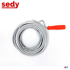 15m Drain Pipe Cleaner Metal Manual Plumbing Sewer Handle Pipeline Drain Snake