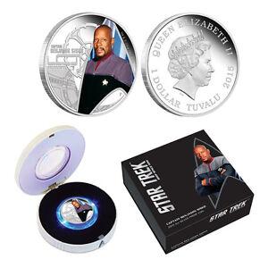 2015 Star Trek Silver Proof Coin - Captain Benjamin Sisko (OGP/COA)