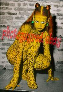 Leopard skin risque woman reprint Photograph-8 x 12 inches