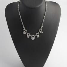 Givenchy Rhodium Faceted Crystal Frontal Necklace