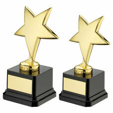 Die cast Gold Metal Plated Star Trophy Achievement Award - FREE Engraving ty66