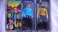 """Star Trek Mego Captain Kirk And Mr Spock 8"""" Action Figure Vintage 1974 New Mint"""