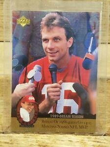 1995 Upper Deck Joe Montana Trilogy Football Card #MT11 49ers Chiefs