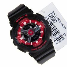 *NEW* CASIO LADIES BABY G COMBI SPORTY BLACK RED WATCH  BA-110SN-1AER RRP £149