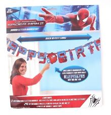 SPIDER-MAN JUMBO LETTER BANNER KIT w/ Custom AGE ~ Happy Birthday Party Supplies