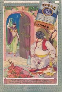 1914 Omar tobacco Two-sided card stock cigarette ad  - Very rare