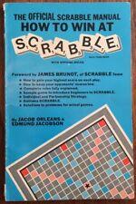 "VINTAGE 1976 UFFICIALE SCARABEO Manuale libro ""COME VINCERE"", J. ORLEANS & E. Jacobson"