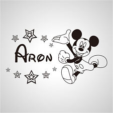 Wall Stickers custom baby name Mickey mouse vinyl decal decor Nursery kids