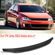 Real Carbon Fiber Rear Trunk Spoiler Lip For VW Jetta MK6 Sedan 2011-2017 Type A