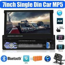 7inch Retractable Single Din Car MP5 Player Bluetooth GPS USB Player with Camera