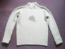 Margaret Howell cream boiled wool ribbed jumper Made in Scotland VGC UK size 10