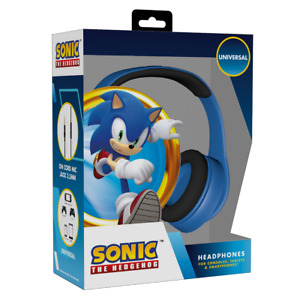 Konix Official Sonic The Hedgehog Gaming Headphones, Blue Padded, PS4 Xbox One X