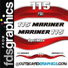 Mariner 115hp Optimax outboard decals/sticker kit