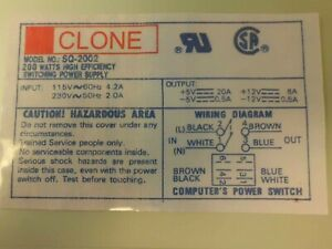 SQ-2002 CLONE AT power supply