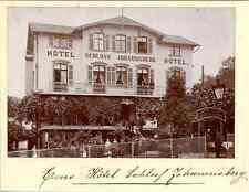 Allemagne, Ems, Hotel, Schloss Johannisberg Vintage print.  Photomécanique