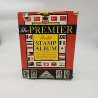 The Premier World Stamp Album approximately 260 rare and old STAMPS included.