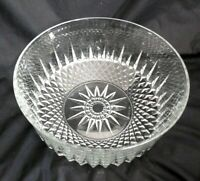 "ARCOROC FRANCE SERVING SALAD FRUIT BOWL CRYSTAL CLEAR GLASS STARBURST 9"" X 4"""
