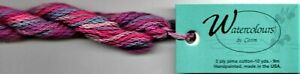 Caron Watercolours Thread #037 Fuchsia Pink Red Needlepoint Canvas Hand-Painted
