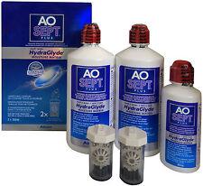 AOSept Plus HydraGlyde 2x360ml Peroxyd Pflegemittel +1x90ml gratis 100ml=4,44€
