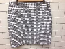 Ann Taylor Pencil Classic Skirt White Black Embroidery NEW WITH TAGS Size 6