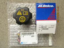 GM 13502509 ACDELCO RC-115 RC115 RADIATOR ENGINE COOLANT FLUID TANK CAP OEM NEW
